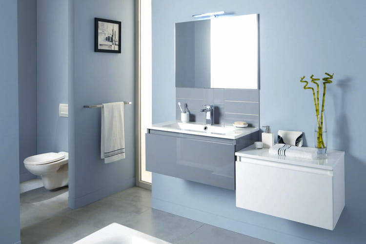 Un esprit clair et pur salles de bain les tendances 2015 linternaute for Photos salle de bain tendance