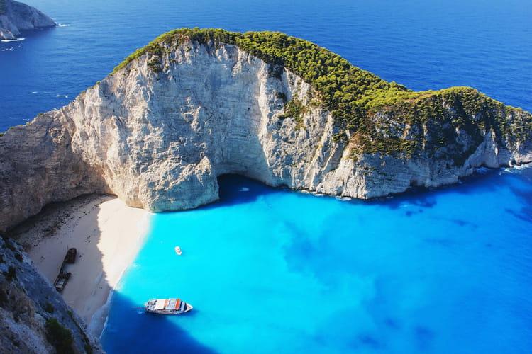 La baie du naufrage dans les îles Ioniennes