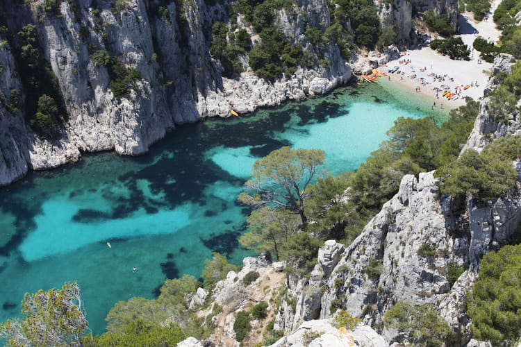 La calanque d'En Vau dans le Sud de la France