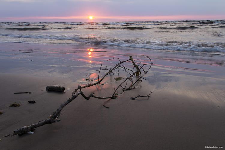 La plage de Jurmala en Lettonie