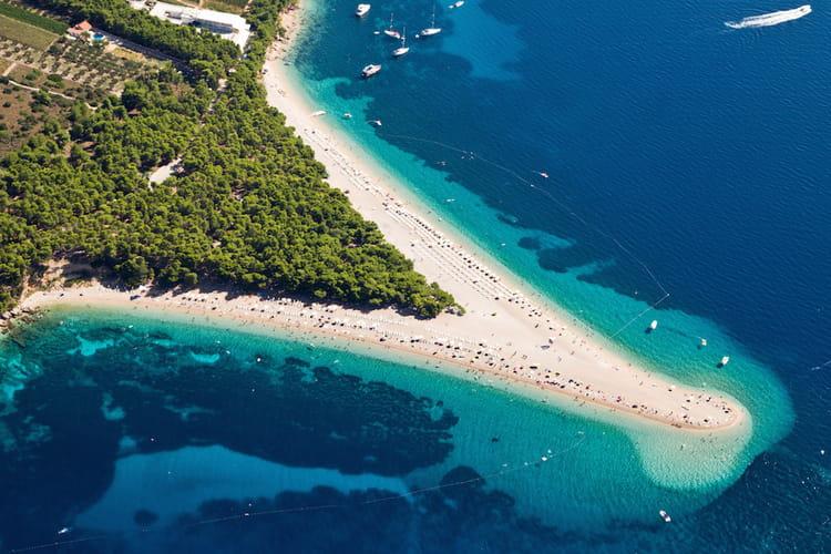 La plage de Zlatni Rat en Croatie