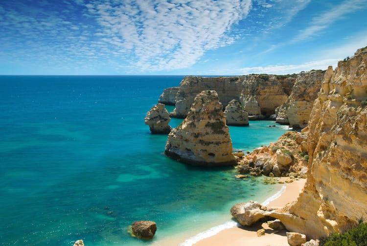 La Praia Da Marinha en Algarve
