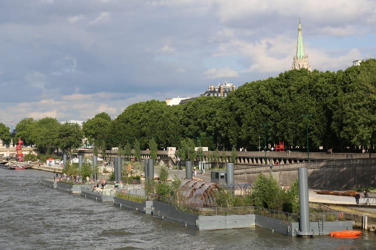 Les jardins flottants des berges sur seine week end for Jardin flottant