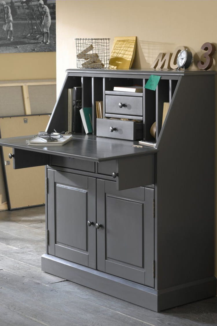 un petit coin bureau des id es d co pour votre couloir linternaute. Black Bedroom Furniture Sets. Home Design Ideas