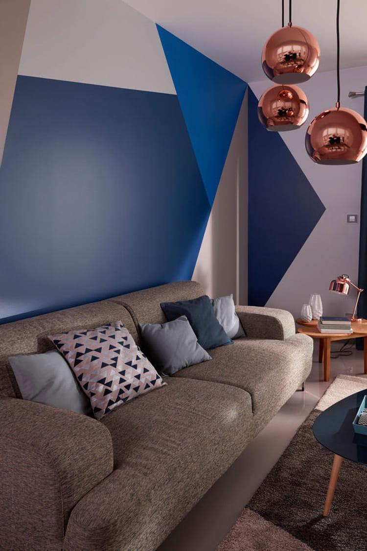 des motifs g om triques des id es d co originales pour habiller vos murs linternaute. Black Bedroom Furniture Sets. Home Design Ideas