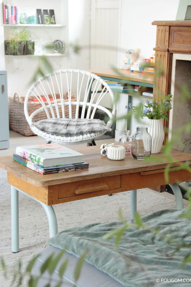 une table basse d 39 colier des tables basses faciles fabriquer linternaute. Black Bedroom Furniture Sets. Home Design Ideas