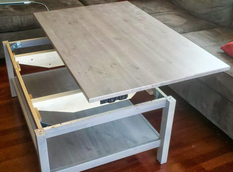 Table Basse Relevable Fabriquer