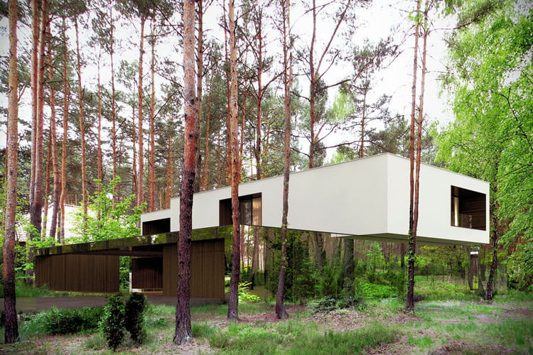 La maison miroir for Maison en pleine nature