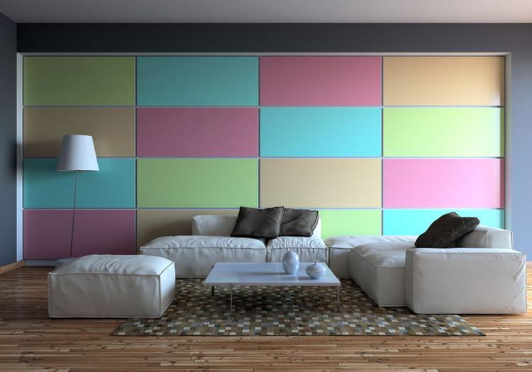 colorez un pan de mur 15 conseils de pro pour relooker votre salon petit prix linternaute. Black Bedroom Furniture Sets. Home Design Ideas