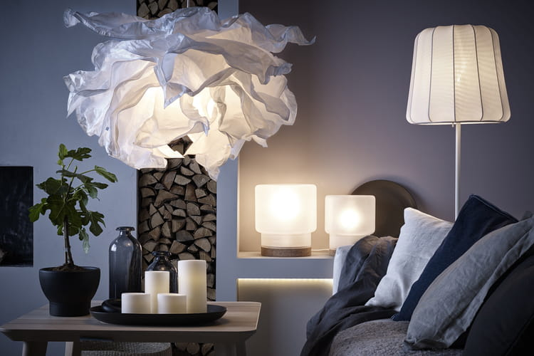 des luminaires blancs pour un int rieur zen. Black Bedroom Furniture Sets. Home Design Ideas