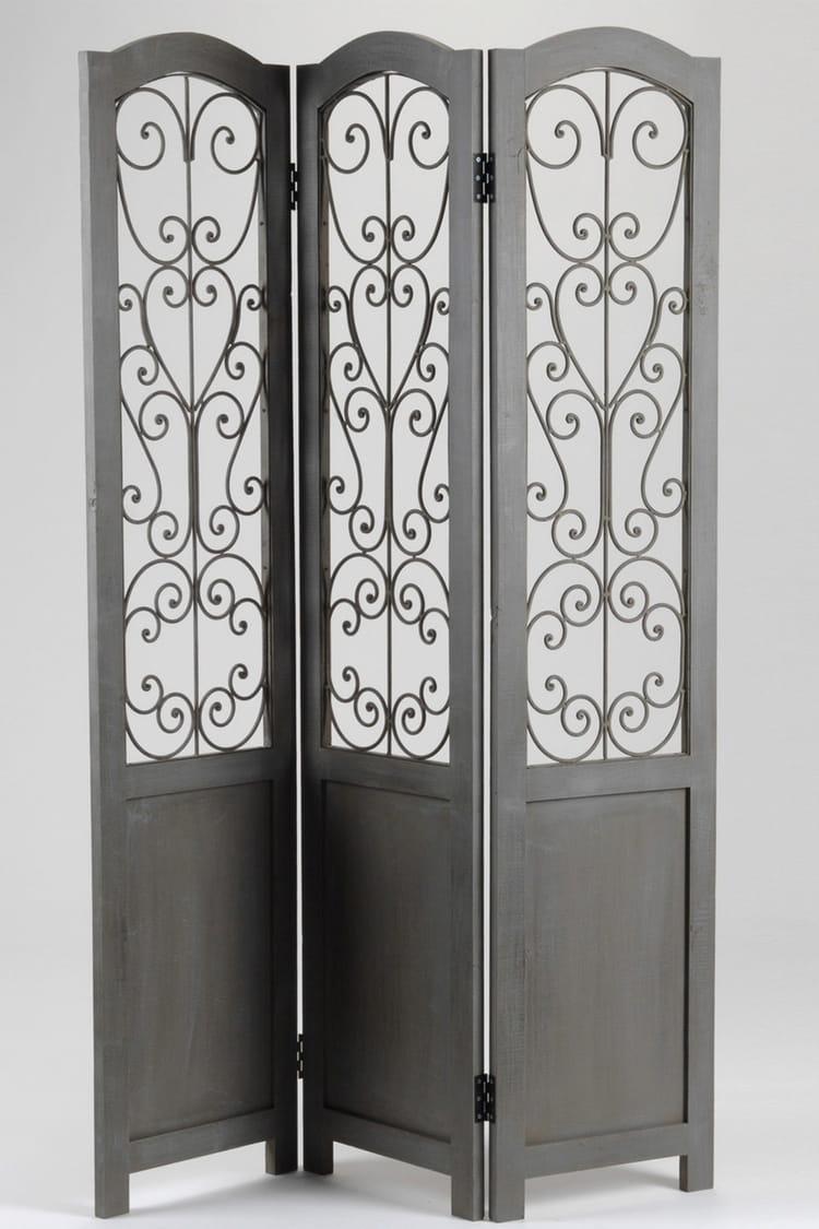 un paravent semi transparent des cloisons amovibles et astucieuses linternaute. Black Bedroom Furniture Sets. Home Design Ideas