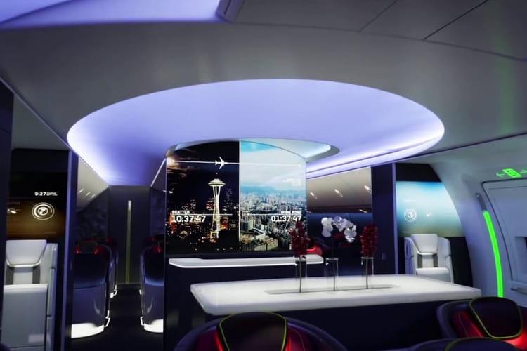 Un Salon Connect Et Futuriste Boeing Pr Sente L 39 Avion
