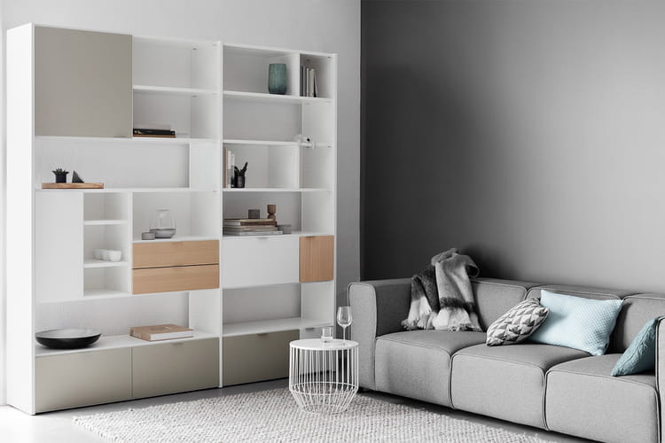 un mur de rangement 20 biblioth ques audacieuses et. Black Bedroom Furniture Sets. Home Design Ideas