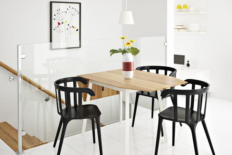 une table rabats facile replier 20 belles tables de salle manger linternaute. Black Bedroom Furniture Sets. Home Design Ideas
