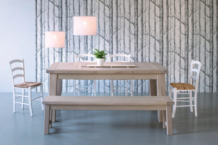 le banc int gr la table manger 20 belles tables de. Black Bedroom Furniture Sets. Home Design Ideas