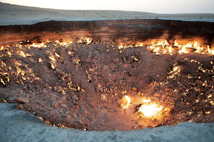 La porte de l 39 enfer darvaza au turkm nistan - Turkmenistan porte de l enfer ...