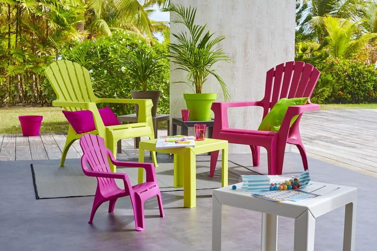 Du mobilier de jardin en plastique - Peinture pour mobilier de jardin en plastique ...