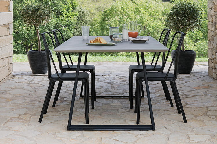 un table de jardin effet ciment salon de jardin. Black Bedroom Furniture Sets. Home Design Ideas