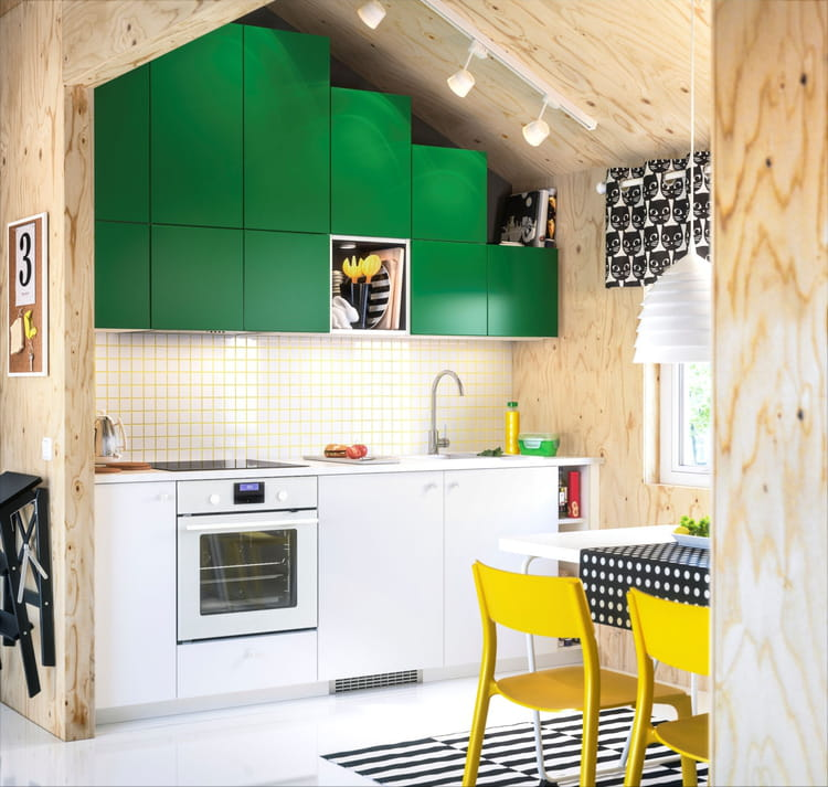 une cuisine ludique cuisine ikea 2017 des cuisines qui donnent envie de mitonner linternaute. Black Bedroom Furniture Sets. Home Design Ideas