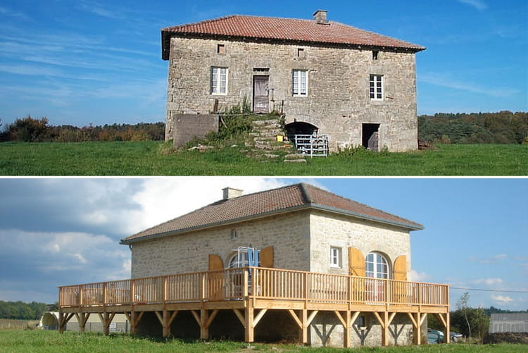 une ferme de 1850 avant apr s 30 maisons r nov es par. Black Bedroom Furniture Sets. Home Design Ideas