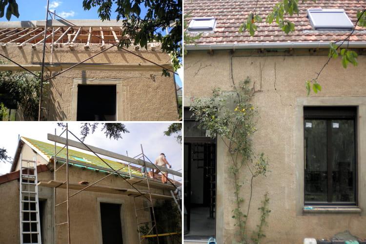 R fection de la toiture principale r novation compl te d 39 une maison dan - Prix d une refection de toiture ...
