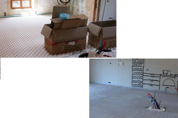 une chape liquide pour le 1er tage transformation d 39 une chapelle en une belle maison. Black Bedroom Furniture Sets. Home Design Ideas