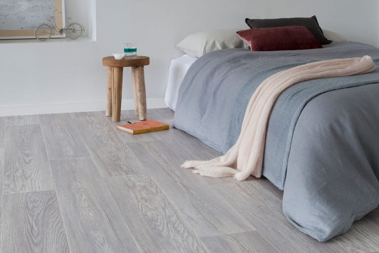 Sol pvc castle white de gerflor for Revetement sol chambre