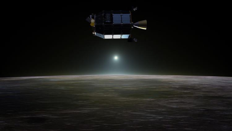 Coucher de soleil lunaire