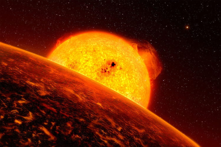 Lever de soleil sur CoRoT-7b