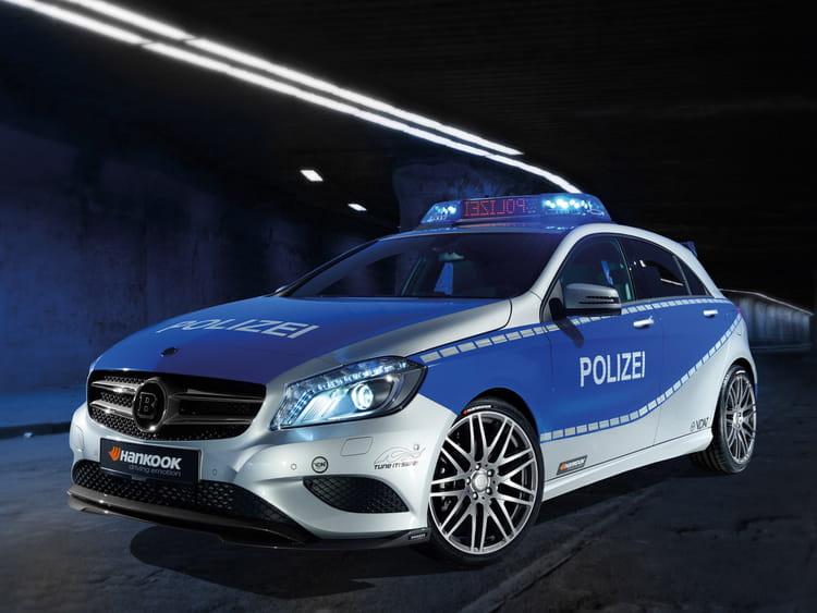 mercedes classe a brabus en allemagne les voitures de police dans le monde linternaute. Black Bedroom Furniture Sets. Home Design Ideas