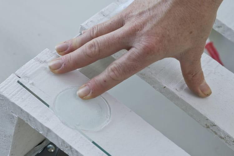 Pression sur la plaque de verre d couvrez comment transformer une palette e - Plaque de verre pour table basse ...