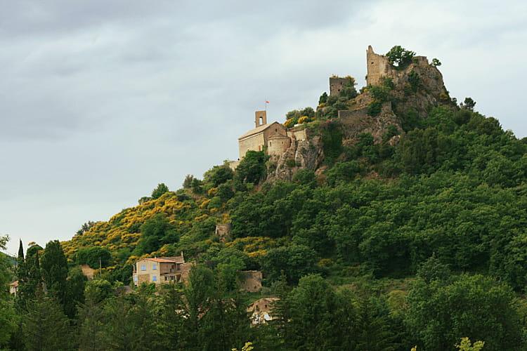 Les ruines du château d'Entrechaux