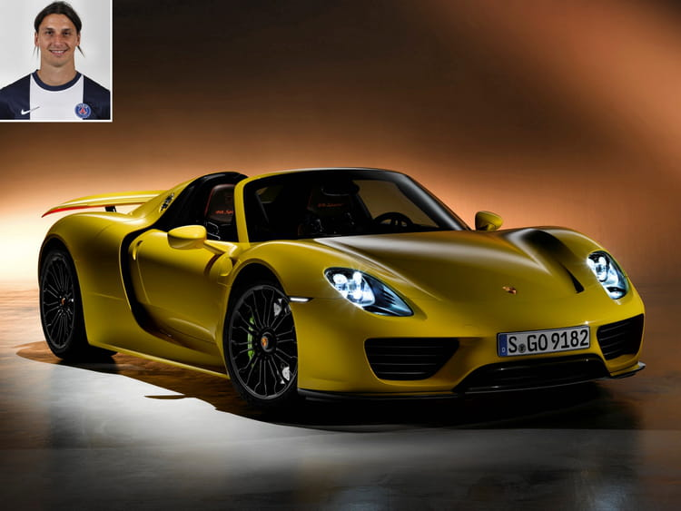 zlatan ibrahimovic en porsche 918 spyder les voitures. Black Bedroom Furniture Sets. Home Design Ideas