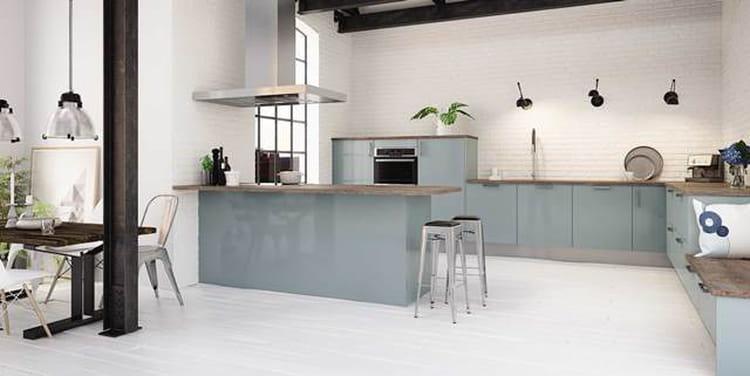 Une cuisine am nag e aux couleurs de demain - Photo cuisine amenagee ...