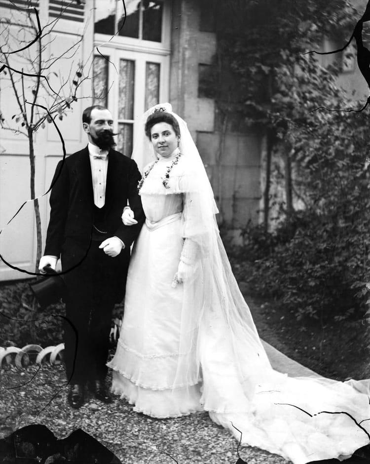Un mariage distingu en 1900 les plus belles photos de mariage d 39 autrefois linternaute - Les photos de mariage ...