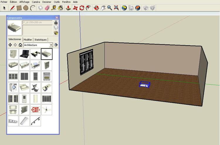 Placer des meubles r aliser un plan en 3d avec google for Placer meubles salon
