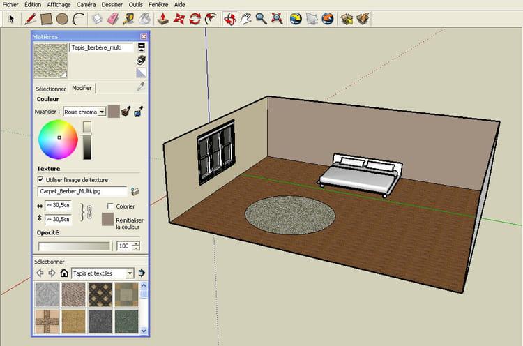Ajouter un tapis r aliser un plan en 3d avec google for Realiser un plan 3d