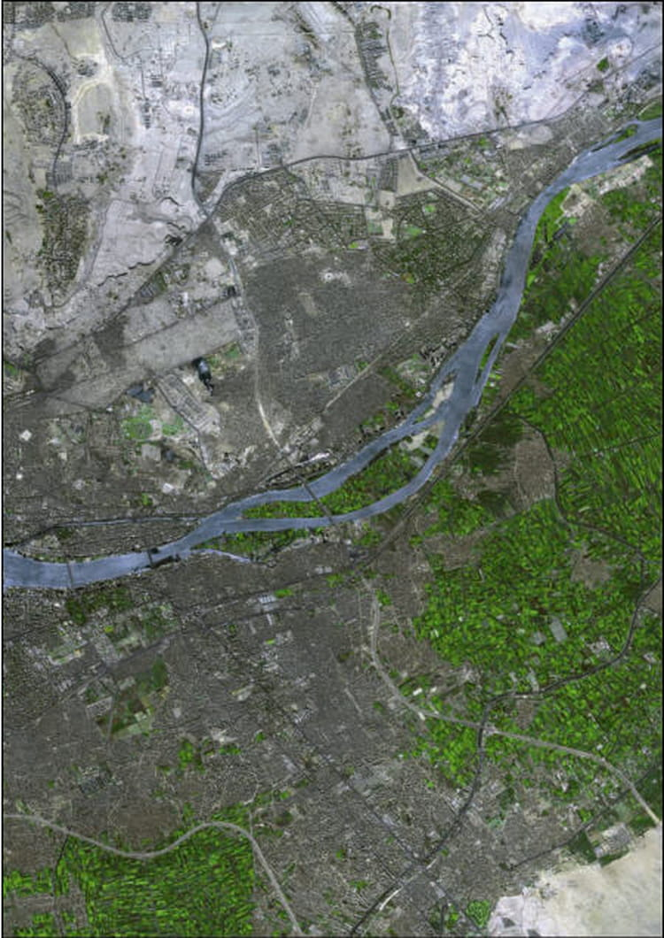 Image satellite du Caire