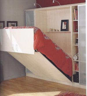 Un lit escamotable lectrique gain de place de grandes for Charniere pour lit escamotable