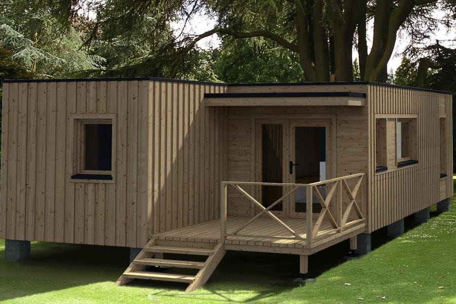 La maison modulaire en kit for Maison modulaire bois prix