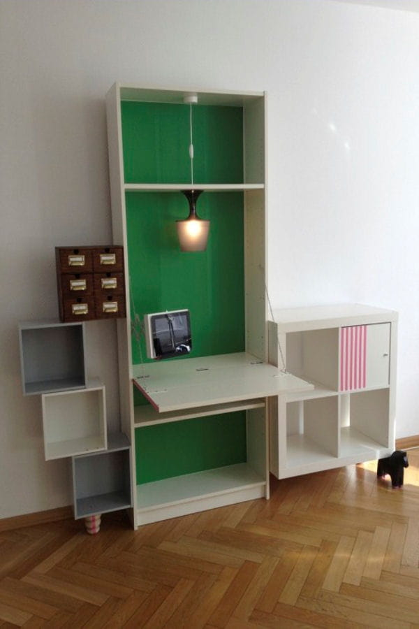 un astucieux secr taire ikea hackers 20 id es pour relooker vos meubles ikea linternaute. Black Bedroom Furniture Sets. Home Design Ideas