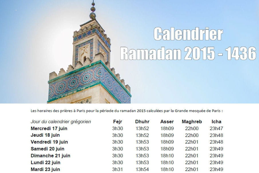 calendrier du ramadan t l chargez les horaires du je ne et des pri res pdf linternaute. Black Bedroom Furniture Sets. Home Design Ideas