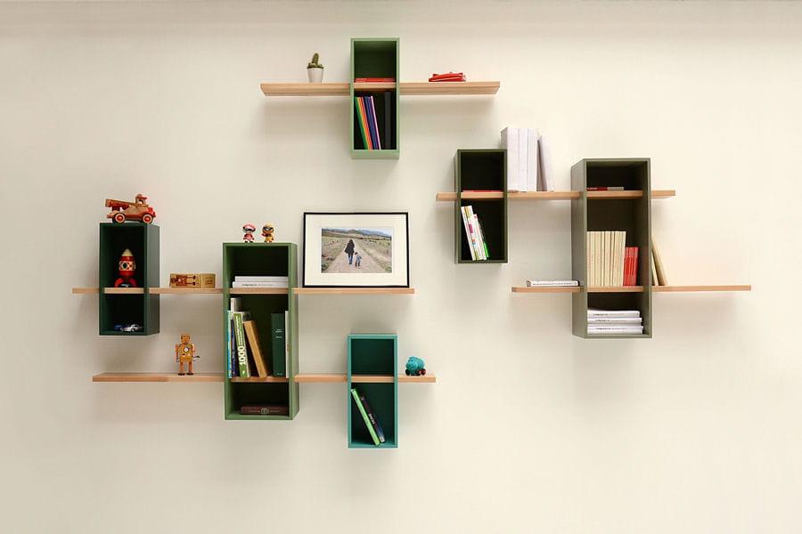 Un couloir graphique des id es d co pour votre couloir - Tablettes murales decoratives ...
