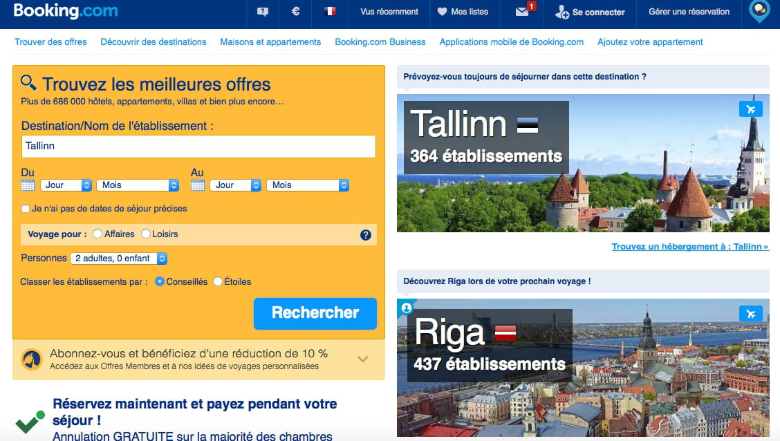 Des clauses abusives pour les for Le site booking