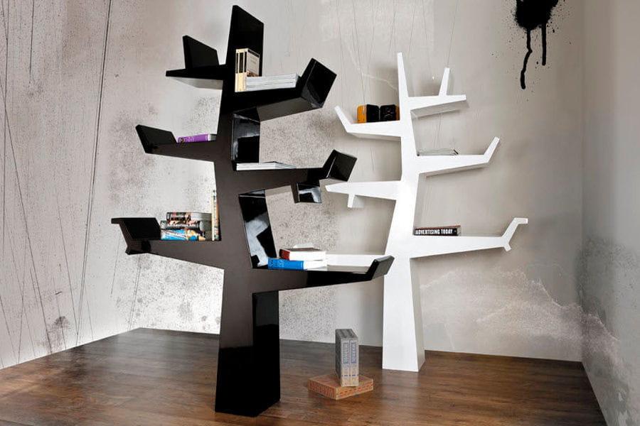 l 39 arbre livres des tag res tendance qui donnent envie de tout ranger linternaute. Black Bedroom Furniture Sets. Home Design Ideas
