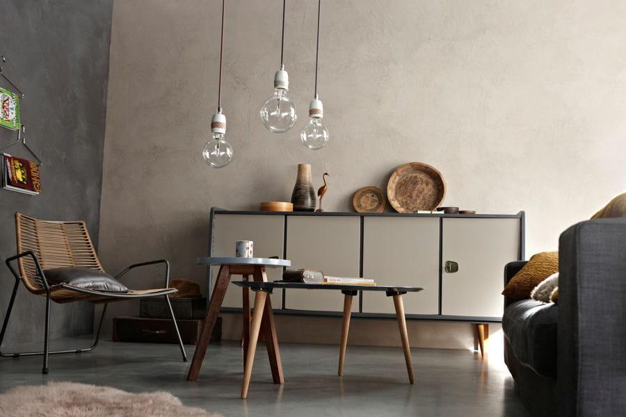 une peinture effet b ton peinture les couleurs tendance de 2015 linternaute. Black Bedroom Furniture Sets. Home Design Ideas