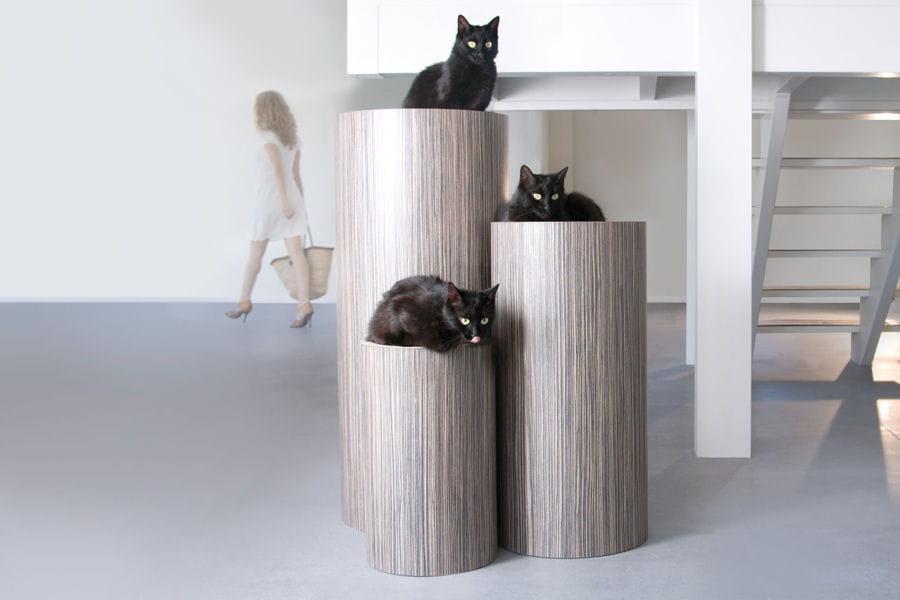 un arbre chat design des objets d co pour vos animaux. Black Bedroom Furniture Sets. Home Design Ideas