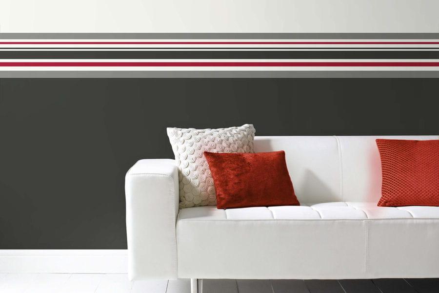 une frise murale des id es d co originales pour habiller vos murs linternaute. Black Bedroom Furniture Sets. Home Design Ideas
