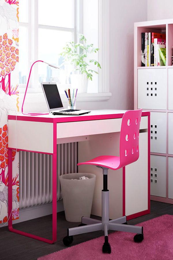 un bureau girly des id es pour am nager votre coin bureau linternaute. Black Bedroom Furniture Sets. Home Design Ideas