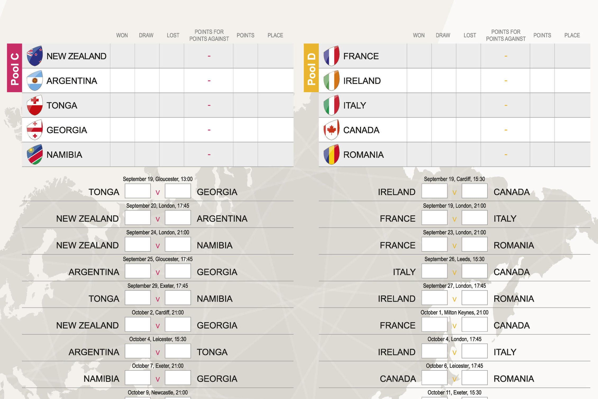 Calendrier coupe du monde de rugby pdf dates et horaires des matchs t l charger linternaute - Coupe du monde 2015 calendrier ...